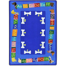 Kid Essentials Doggone Good Alphabet Nylon Rug with SoftFlex Backing - 92