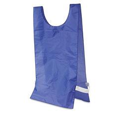 Champion Sports Heavyweight Pinnies - Nylon - One Size - Blue - 12/Box