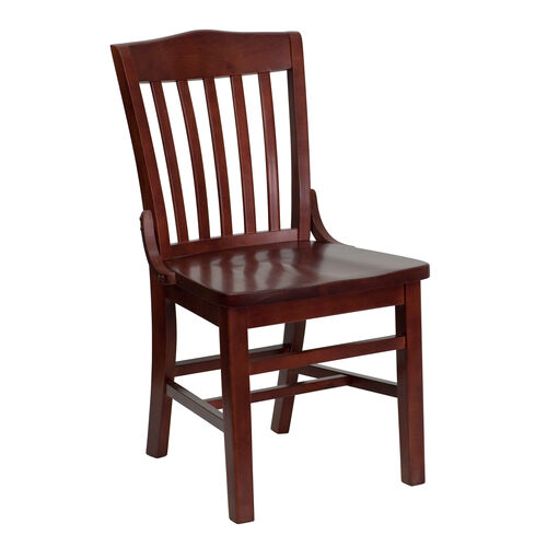 Our Mahogany Finished School House Back Wooden Restaurant Chair is on sale now.