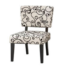 Taylor Accent Chair w/ White and Black Circles