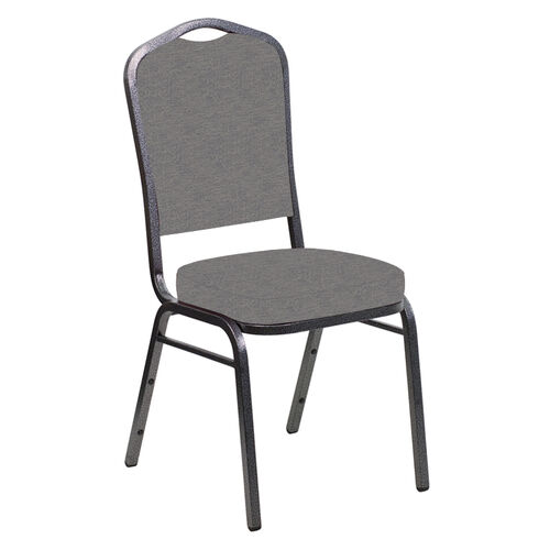 Our Crown Back Banquet Chair in Ravine Granite Fabric - Silver Vein Frame is on sale now.