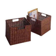 2-Pc Leo Small Wired Baskets