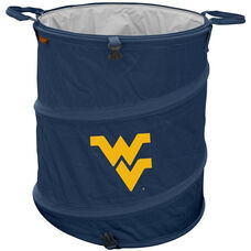 West Virginia University Team Logo Collapsible 3-in-1 Cooler Hamper Wastebasket