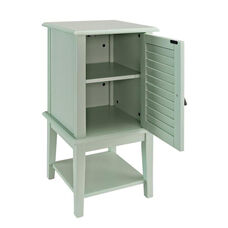 Hatteras Shutter Door with Shelf - Aqua