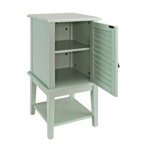 Our Hatteras Shutter Door with Shelf - Aqua is on sale now.