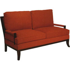 5330 Loveseat w/ Wood Arms & Legs - Grade 1