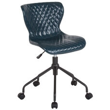 Somerset Home and Office Upholstered Task Chair in Blue Vinyl