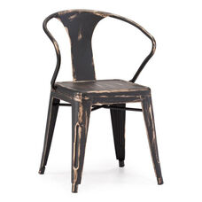 Helix Chair in Antique Black Gold