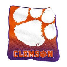 Clemson University Team Logo Raschel Throw