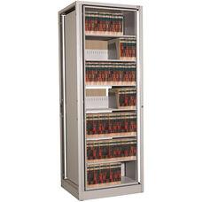 Ez2 Rotary File Shelving 7 Shelves Letter Depth - Adder Unit - Light Gray