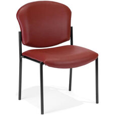 Manor Anti-Bacterial and Anti-Microbial Vinyl Guest and Reception Chair - Wine
