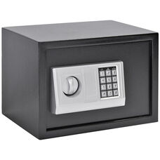 13.7''W x 9.8''D x 9.8''H Electronic Security Safe - Black