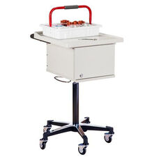 Pneumatic Laminate Phlebotomy Cart with Two Removable Storage Bins