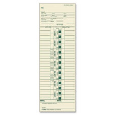 Tops Weekly One-Sided Time Cards - Pack Of 500