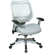 Space REVV Self Adjusting SpaceFlex Back and Mesh Seat Managers Chair with Adjustable Arms - Ice Back and Shadow Seat