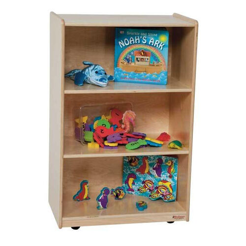 Our Kids Wood Mobile Storage Shelf with Easy Movement Casters - Assembled - 24