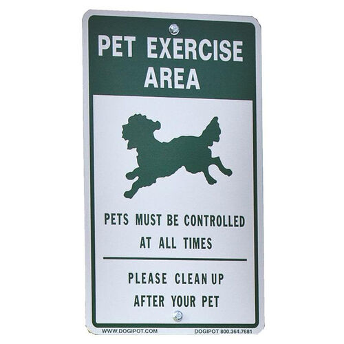 Our Reflective Aluminum Off Leash Pet Sign is on sale now.
