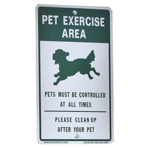 Reflective Aluminum Off Leash Pet Sign