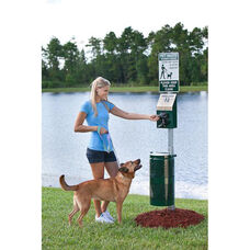 Green Steel Pet Station - Litter Pick Up Bags