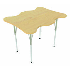 My Place Adjustable Height Maple Top Activity Table - 40