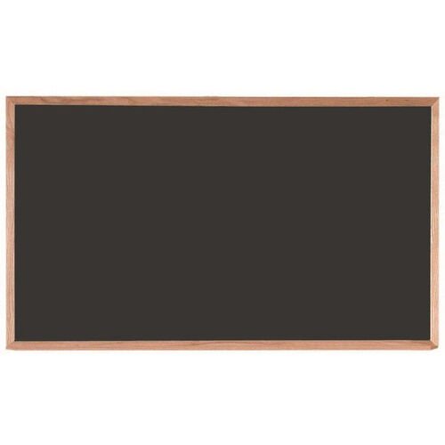 Our Black Composition Chalkboard with Red Oak Frame and Chalk Tray - 36