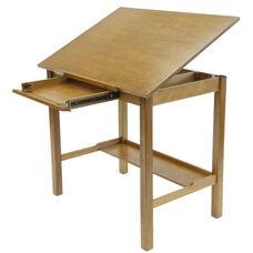 Americana II Wood Drafting Table with Adjustable Angle Top - Light Oak