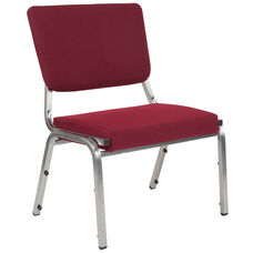 HERCULES Series 1500 lb. Rated Burgundy Antimicrobial Fabric Bariatric Medical Reception Chair with 3/4 Panel Back