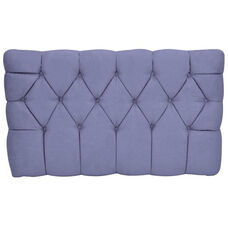 Kids Meridia Collection - Tufted Upholstered Twin Headboard - Grape Suede