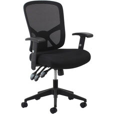 Essentials 3-Paddle Ergonomic High-Back Mesh Task Chair with Arms and Lumbar Support - Black
