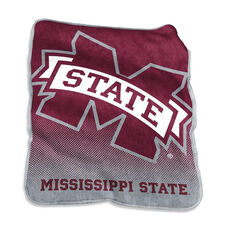 Mississippi State University Team Logo Raschel Throw