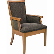 5635 Upholstered Lounge Chair w/ Exposed Wood - Grade 1
