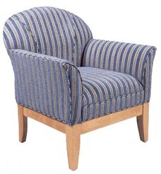 9420 Upholstered Lounge Chair w/ Wood Base - Grade 1