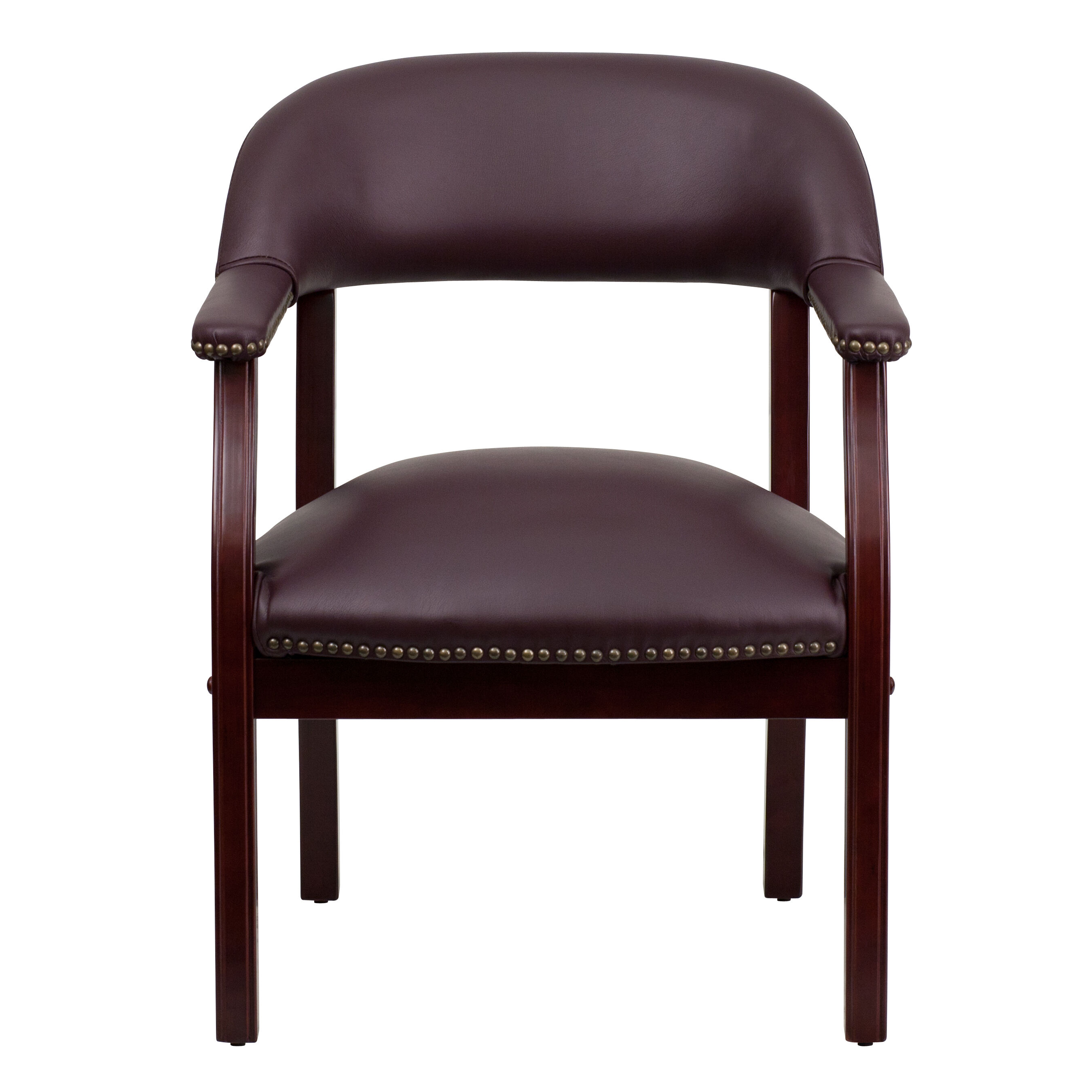 burgundy leather guest chair b z105 lf19 lea gg bizchair com