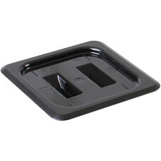 Sixth Size Solid Cover for Polycarbonate Food Pan in Black