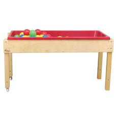 Sand and Water Table with 2 Castered Legs and Plastic Liner Tray - 46