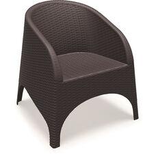 Aruba Wickerlook Resin Club Arm Chair - Brown