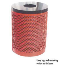 32 Gallon Trash Receptacle Perforated Pattern