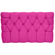Kids Meridia Collection - Tufted Upholstered Twin Headboard - Pink Suede