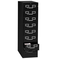 Tennsco 8 Drawer Card Cabinet - withLock - 15