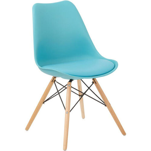 Our Ave Six Allen Guest Chair with Natural Wood Legs - Teal is on sale now.
