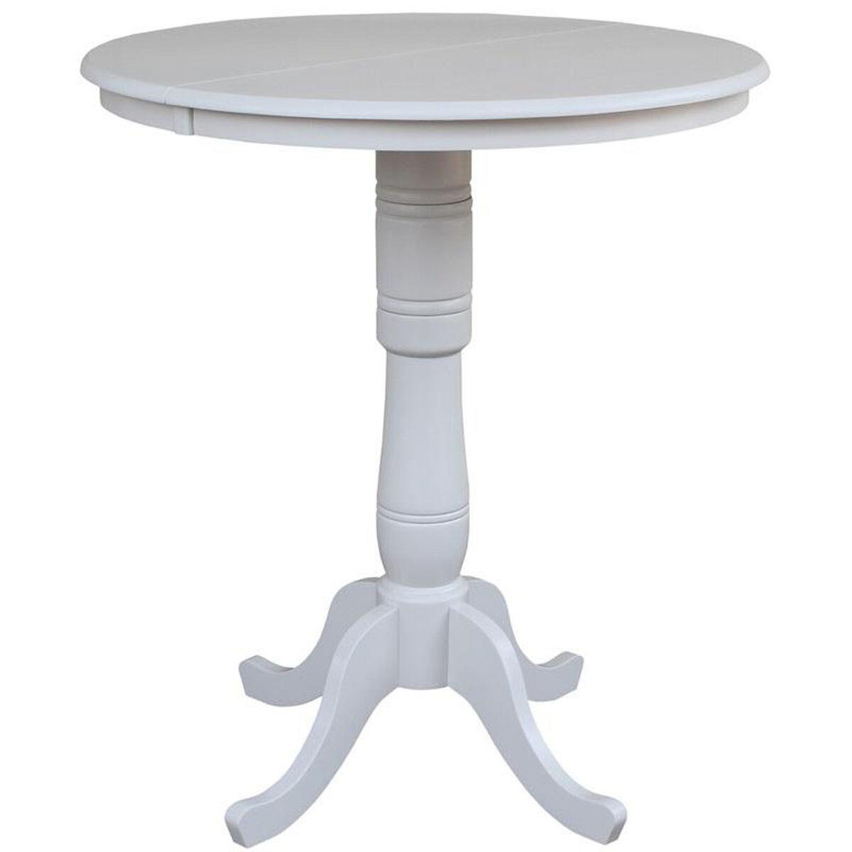 Solid Wood Pedestal Dining Table KRXTB Bizchaircom - 36 diameter dining table