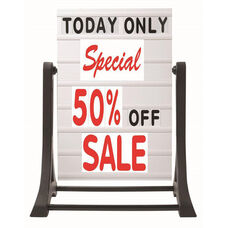 The Rocker Frameless Double Sided Sidewalk Sign with Deluxe Set Changeable Letterboard - 32
