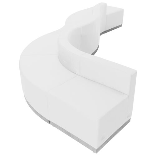 Our HERCULES Alon Series Melrose White Leather Reception Configuration, 6 Pieces is on sale now.