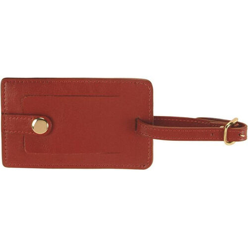Our Snap Luggage Tag - Top Grain Nappa Leather - Red is on sale now.