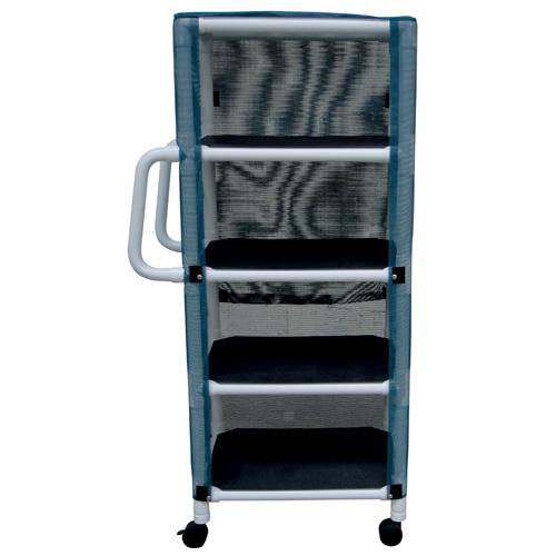 4 Shelf Ergonomic Cart with Mesh Cover and Casters - 20