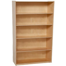 Extra Deep 5 Shelf Wooden Bookcase with Plywood Back - 36