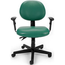 24 Hour Anti-Microbial and Anti-Bacterial Vinyl Task Chair with Arms - Teal