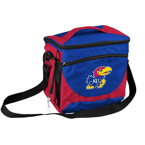 Our University of Kansas Team Logo 24 Can Cooler is on sale now.