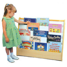 Double Sided Pick-A-Book 5 Shelf Stand with Write-N-Wipe Board and Cubby