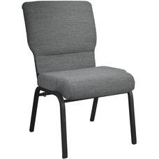Advantage Black Marble Church Chair 20.5 in. Wide